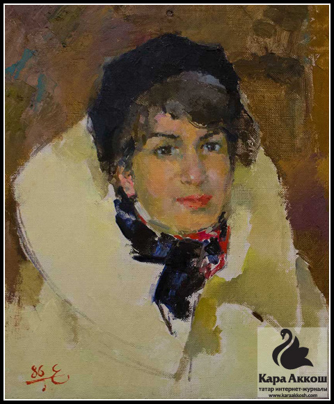 Баки Урманче - Портрет М. Булатовой. 1947 г.