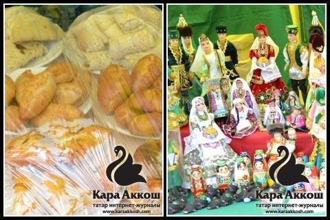 Киоски с татарской выпечкой и сувенирной продукцией