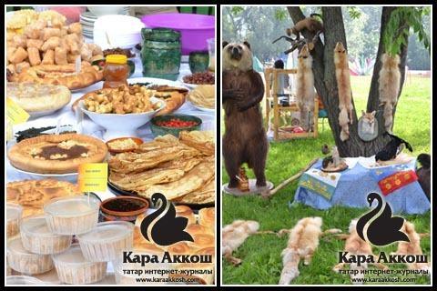 Блюда башкирской кухни и уголок охотника