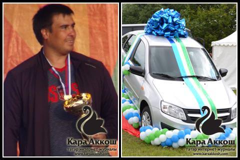 Батыр московского «Сабантуй-2015» и его приз «Lada Granta»
