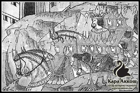 Улу-Мухаммед во главе своей армии (Фрагмент Лицевого летописного свода)