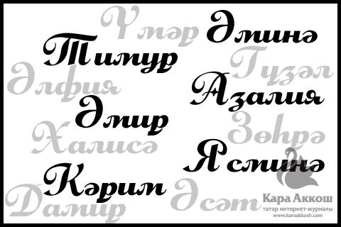 Самые популярные татарские имена